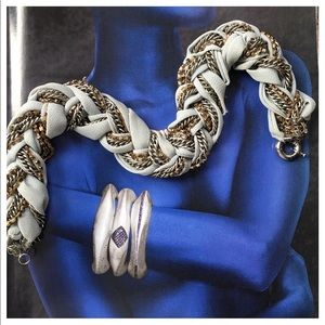 Jewelry - Raw Silk And Multi Metal Braided necklace